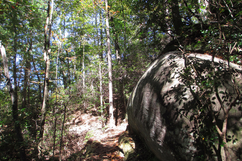 Soon after hitting the Raven Rock Trail I began to pass numerous large rock outcrops like this one...