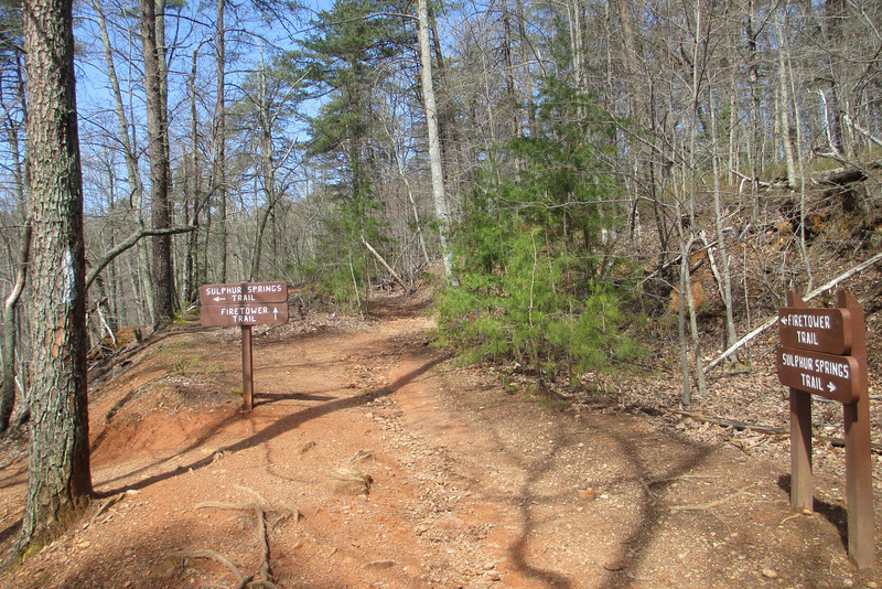 Sulphur Springs-Fire Tower Trail Junction