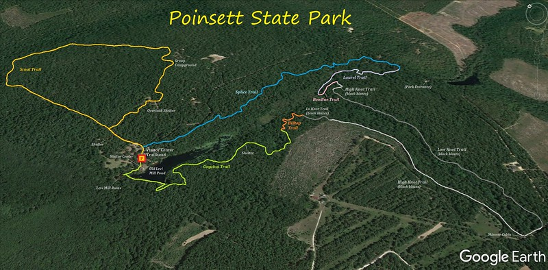 Poinsett State Park Hike Route Map