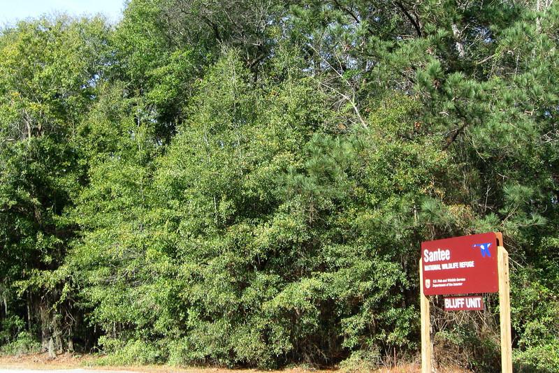 Santee NWR - Bluff Unit Entrance