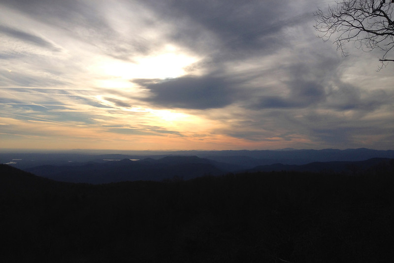 The sun sets on another day in the mountains of Upstate South Carolina...