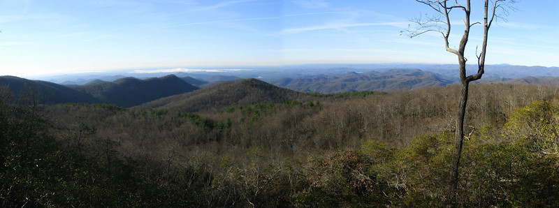 The stunning panorama from the overlook...