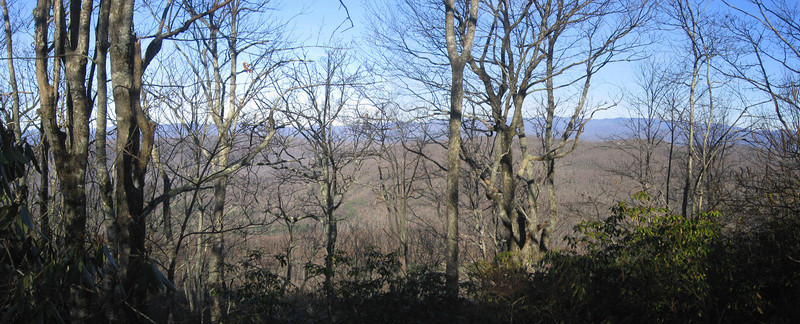 The 6,000-foot Blue Ridge rises 15-20 miles to the north...the main reason why this summit is so overlooked...nice to check off  #19 though!!