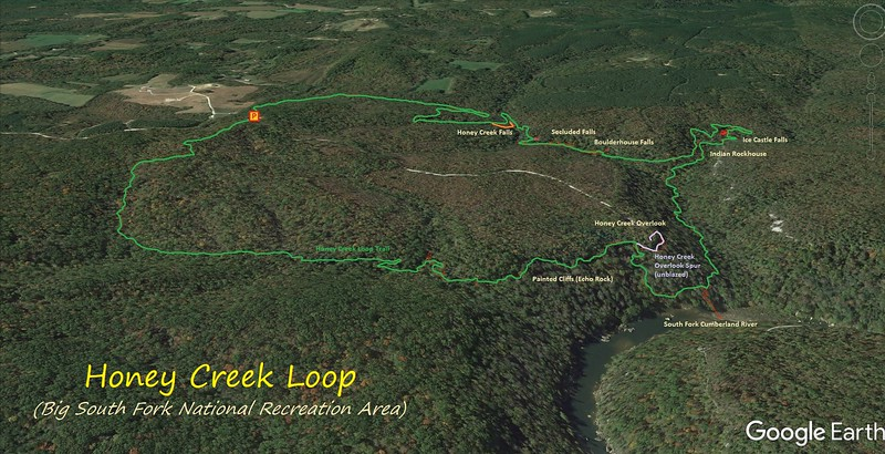Honey Creek Loop Trail Route Map