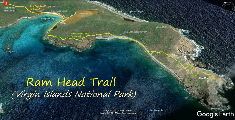Ram Head Trail Hike Route Map