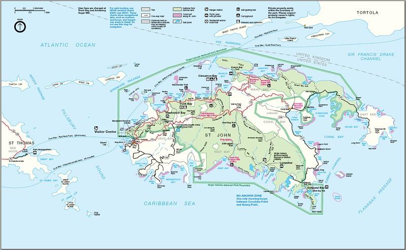 Virgin Islands National Park Map