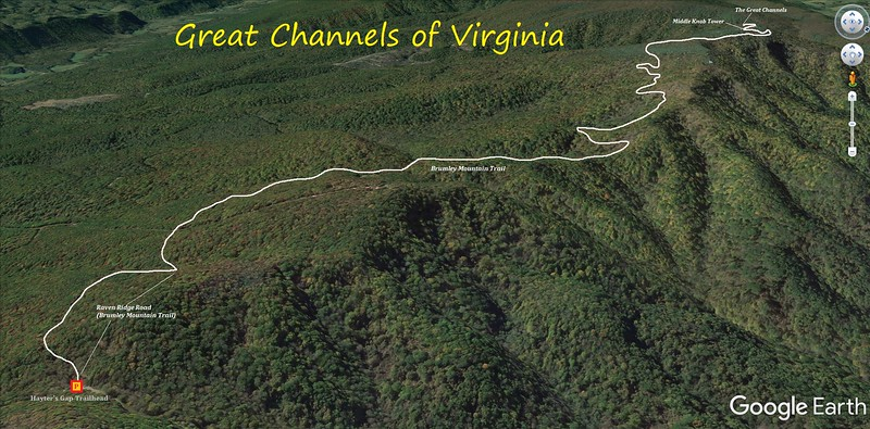 Great Channels of Virginia Hike Route Map