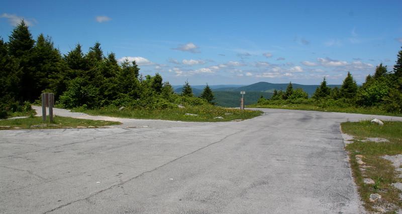 Spruce Knob Summit Parking Lot