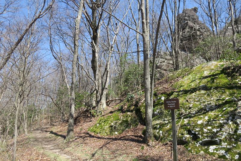 White Rocks Overlook Trail - 3,250'
