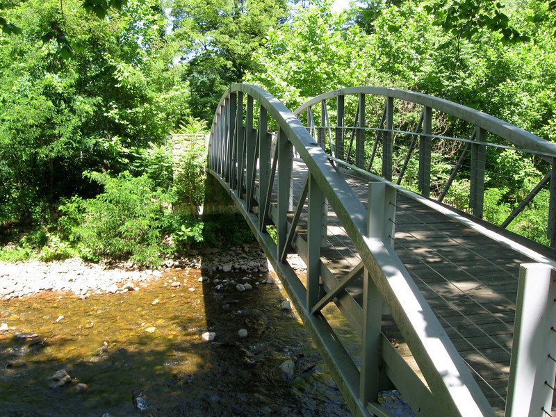Testimony to the huge numbers of people that make this hike every year are the two steel bridges that take you across the South Branch of the Potomac River...