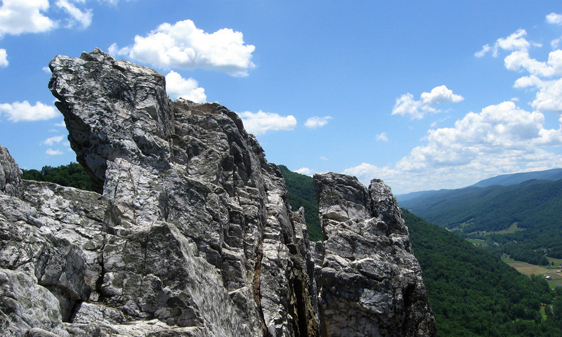 ...and then ascend this small outcrop...