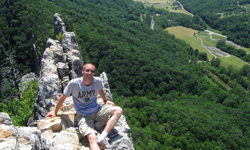 Hero shot on Seneca Rocks...