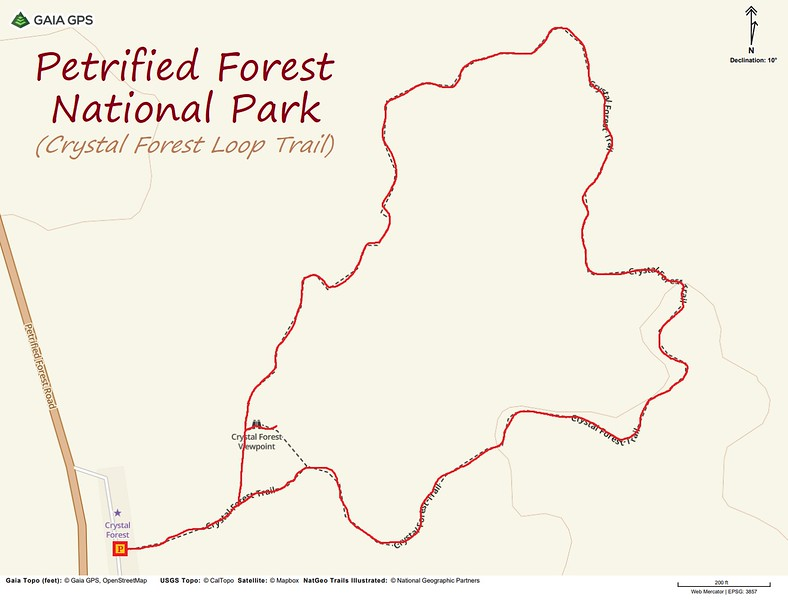 Crystal Forest Loop -- Route Map