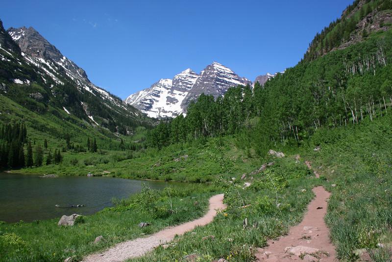 Maroon Lake-Crater Lake Trail Junction - 9,590'