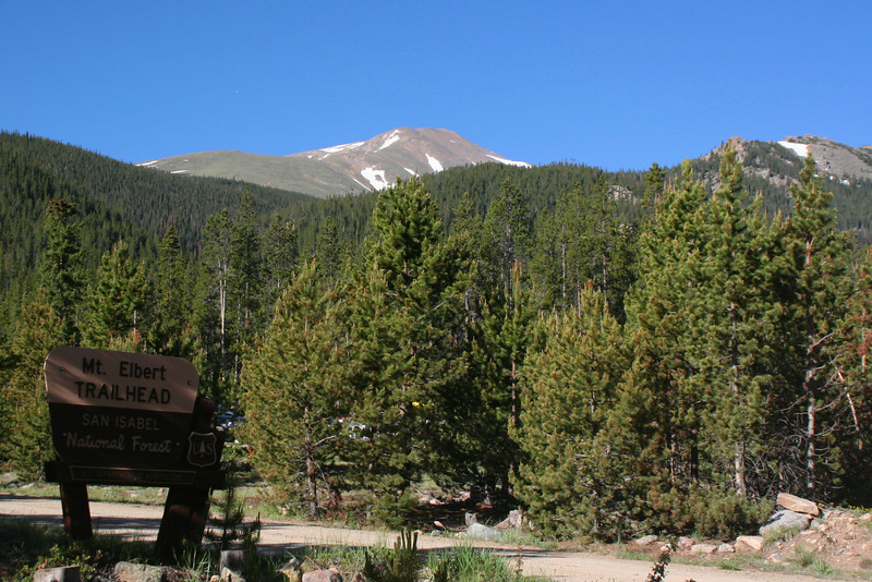 Mt. Elbert Trailhead -- 10,040'