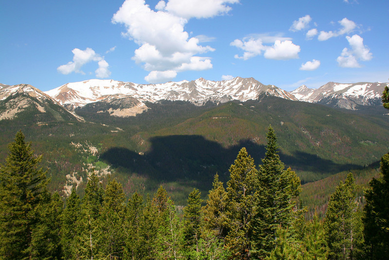 Never Summer Mountains from Fairview Curve - 10,120'