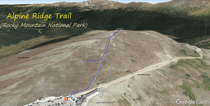 Alpine Ridge Trail Route Map