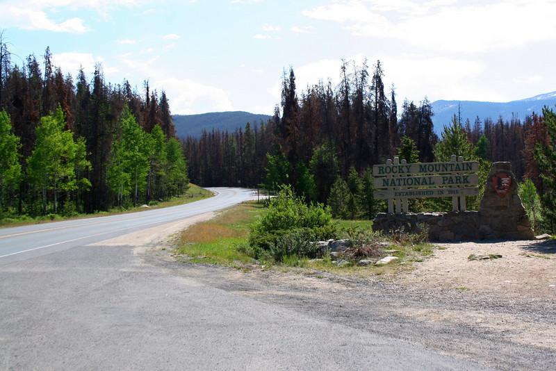 Grand Lake Entrance - 8,700'