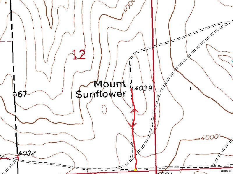 Mount Sunflower Route Map