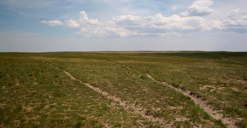 Looking east along the Colorado-Nebraska line...