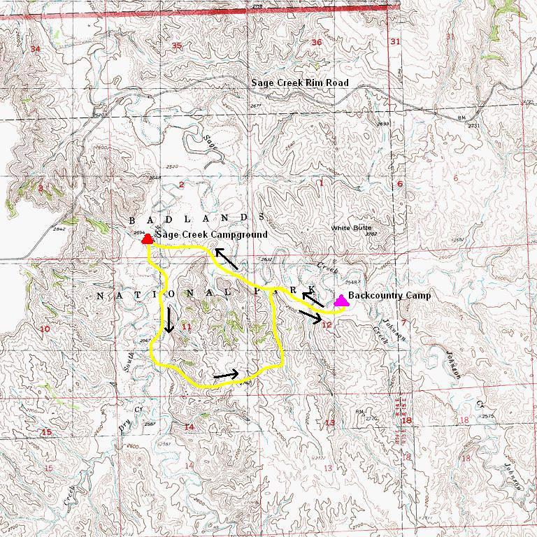 Badlands Wilderness Area Sage Creek Badlands National Park 54