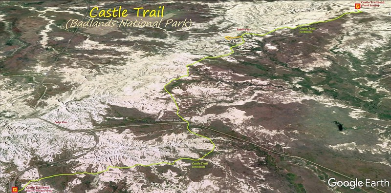 Castle Trail Hike Route Map