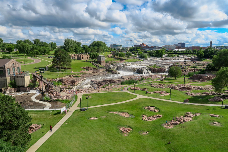 Falls Park from Observation Tower