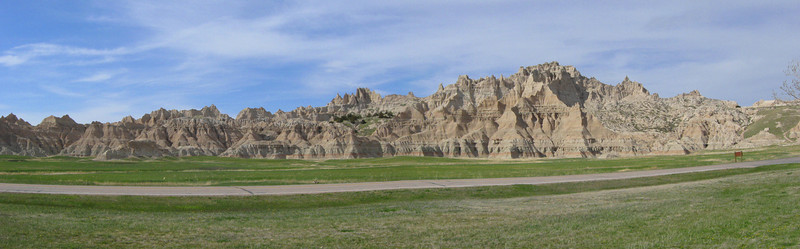 Impressive rock formation across from the Ben Reifel Visitors Center...