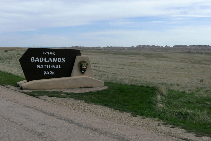 Entering Badlands National Park north of Cedar Pass...