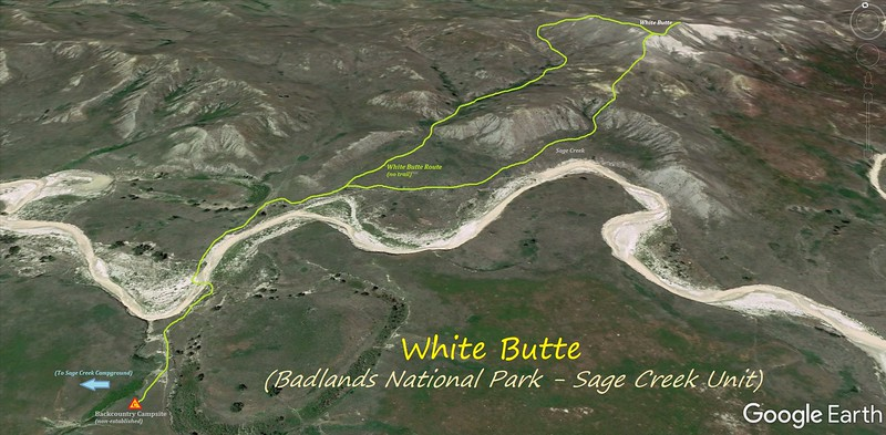 White Butte Hike Route Map