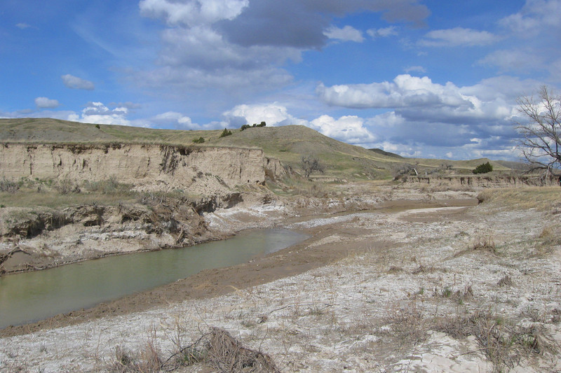 Sage Creek, adjacent to our backcountry camp...the only major obstacle between us and the summit...