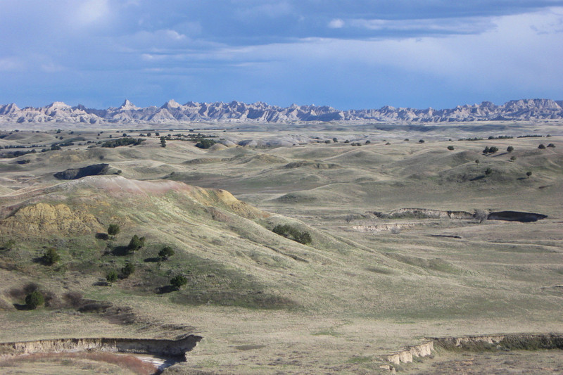 The Badlands 'Wall' from the summit of White Butte...