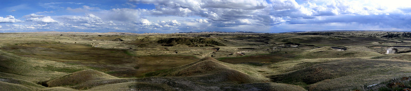 The mind-numbing panorama, looking south and east, from the summit of White Butte...