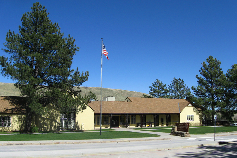 From 1934-39 the CCC built many of the structures you see in the National Park, including the visitor center...