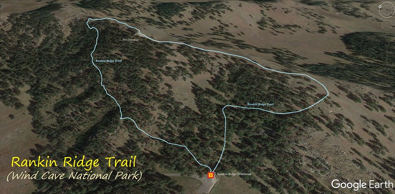 Rankin Ridge Nature Trail Hike Route Map