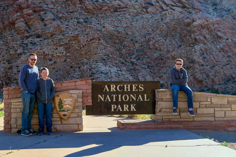 Arches National Park Entrance -- 4,020'