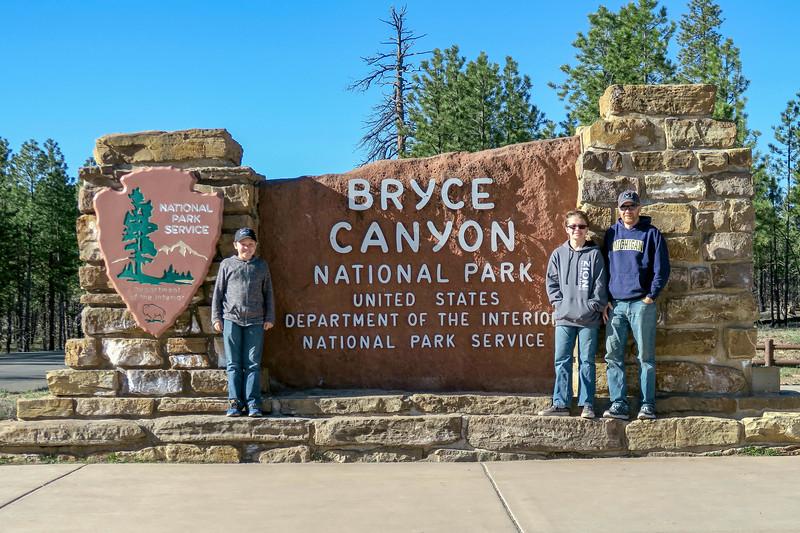 Bryce Canyon National Park Entrance -- 7,800'