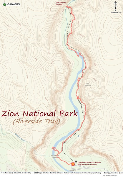 Riverside Trail -- Route Map