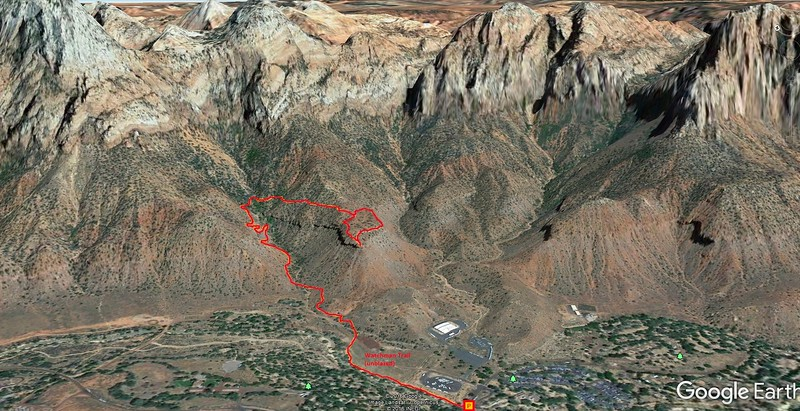 Watchman Trail -- Route Map