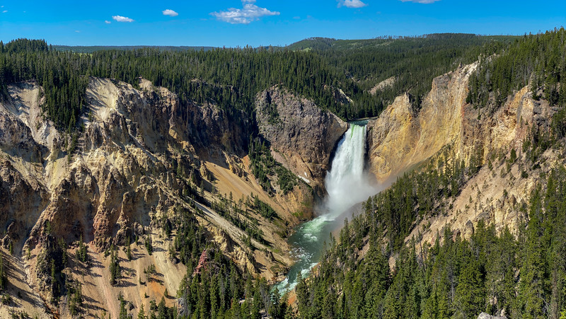 Lower Falls of the Yellowstone River (Lookout Point) -- 7,800'