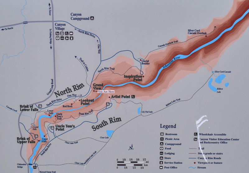 Grand Canyon of the Yellowstone Area Map