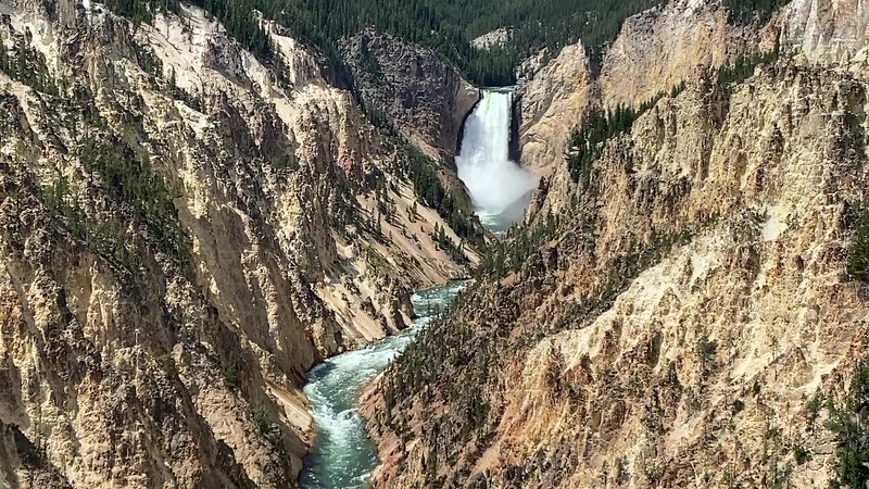 Lower Falls of the Yellowstone River (Artist Point) -- 7,650'
