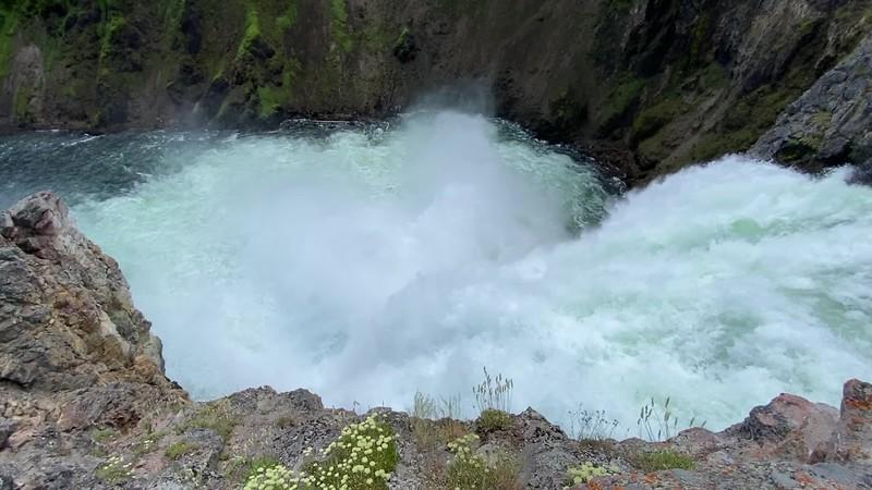 Brink of the Upper Falls -- 7,620'