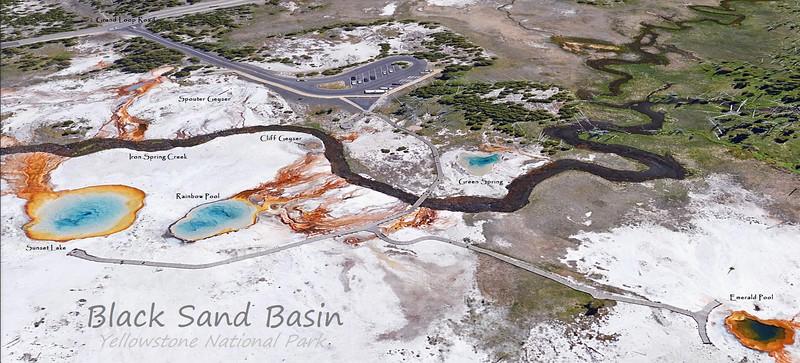 Black Sand Basin Feature Map