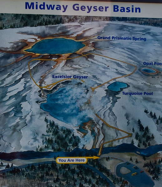 Midway Geyser Basin Area Map