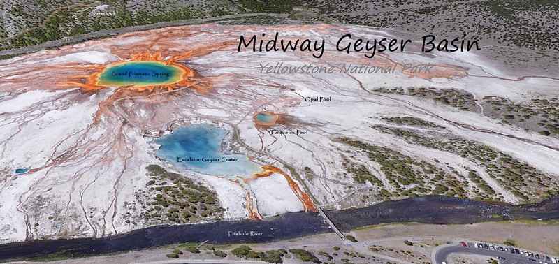 Midway Geyser Basin Feature Map