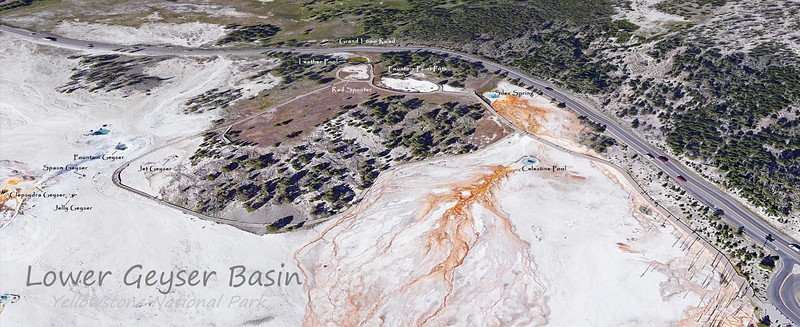Lower Geyser Basin Feature Map