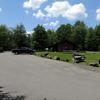 Blackwater Falls parking lot and trading post
