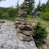 Stone cairn alongside Blackbird Knob Trail
