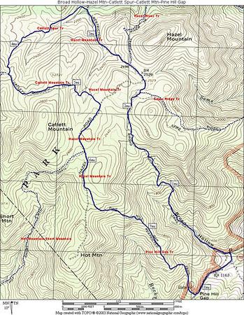 Broad Hollow-Hazel-Catlett-Pine Hill